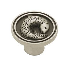 Seaside Cottage 1-3/8 Inch Diameter Brushed Satin Pewter Cabinet Knob <small>(#PBF662-BSP-C)</small>