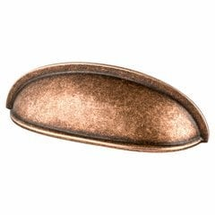 American Classics 3 Inch Center to Center Weathered Copper Cabinet Cup Pull
