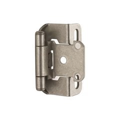 "Partial Wrap 1/2"" Overlay Hinge Weathered Nickel - Per Pair <small>(#BPBP7550WN)</small>"