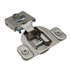 Compact 38N Hinge and Mounting Plate 1/2 inch Overlay