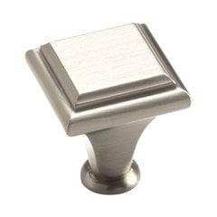 Manor 1 Inch Diameter Satin Nickel Cabinet Knob