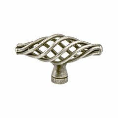Provence 2-7/16 Inch Diameter Pewter French Iron Cabinet Knob