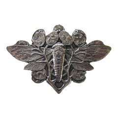 All Creatures 2 Inch Diameter Brite Nickel Cabinet Knob