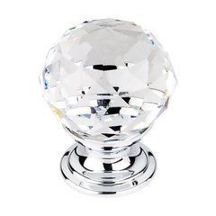 Crystal 1-1/8 Inch Diameter Clear Crystal Cabinet Knob <small>(#TK125PC)</small>