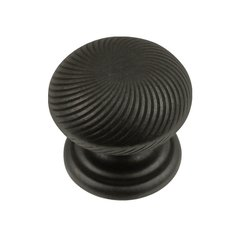"Carbonite Knob 1-1/4"" Dia Black Iron <small>(#P3609-BI)</small>"