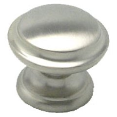 Euro Classica 1-3/8 Inch Diameter Brushed Nickel Cabinet Knob