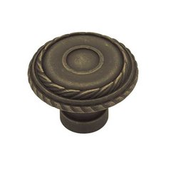 Rustique 1-7/16 Inch Diameter Distressed Oil Rubbed Bronze Cabinet Knob