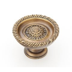 Sunflower 1-3/4 Inch Diameter Estate Dover Cabinet Knob <small>(#921L ED)</small>