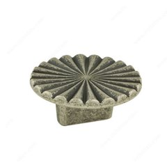 Art Deco 5/8 Inch Center to Center Faux Iron Cabinet Pull <small>(#157050904)</small>