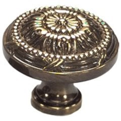 Versailles Forged Solid Brass 1-1/2 Inch Diameter Antique Light Polish Cabinet Knob <small>(#752-ALP)</small>