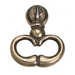 Povera 11/16 Inch Diameter Oxidized Brass Pendant Pull