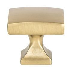 "Century Edge Knob 1-3/8"" Dia Modern Brushed Gold"