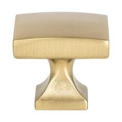 "Century Edge Knob 1-3/8"" Dia Modern Brushed Gold <small>(#1204-1MDB-P)</small>"