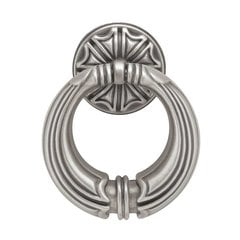 French Romantics 2-7/16 Inch Diameter Brushed Satin Pewter Cabinet Ring Pull