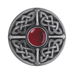 Jewel 1-3/8 Inch Diameter Antique Pewter Cabinet Knob <small>(#NHK-158-AP-RC)</small>