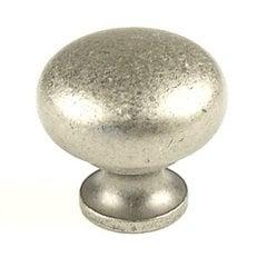 Hartford 1-1/4 Inch Diameter Aged Pewter Cabinet Knob