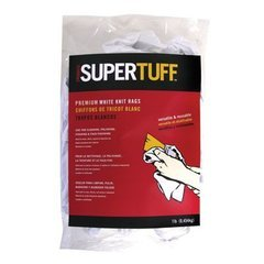 Trimaco SuperTuff White Knit Rags 22lb Bag White