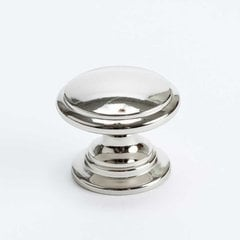 Berenson Designers Group 10 1-3/16 Inch Diameter Polished Nickel Cabinet Knob 4145-1014-P