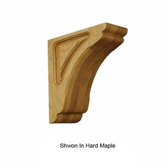 Brown Wood Small Cosmo Corbel Unfinished Alder 01601010AL1