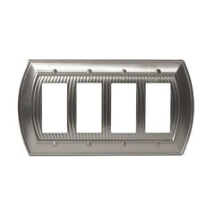 Allison Four Rocker Wall Plate Satin Nickel