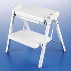 Stepfix Folding Stepstool White/Grey