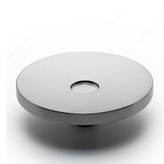 Geometric 3-15/16 Inch Diameter Brushed Nickel Cabinet Knob