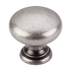 Somerset 1-1/4 Inch Diameter Pewter Antique Cabinet Knob