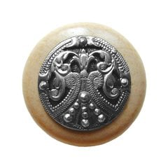 Olde Worlde 1-1/2 Inch Diameter Brilliant Pewter Cabinet Knob <small>(#NHW-701N-BP)</small>