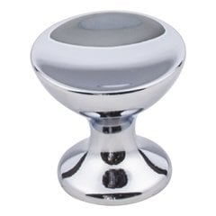 Rae Cabinet Knob 1-1/16 inch Diameter - Polished Chrome <small>(#667S-PC)</small>