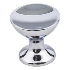 Rae Cabinet Knob 1-1/16 inch Diameter - Polished Chrome