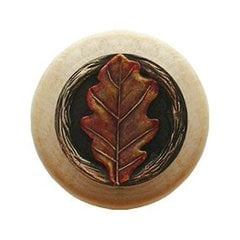 Leaves 1-1/2 Inch Diameter Brass Hand Tinted Cabinet Knob