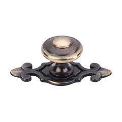 Britannia 1-1/4 Inch Diameter Dark Antique Brass Cabinet Knob <small>(#M28)</small>