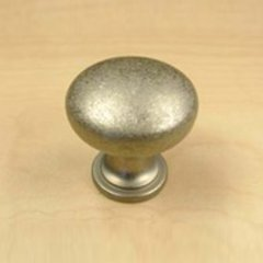 Glacier 1-3/16 Inch Diameter Weathered Nickel Cabinet Knob