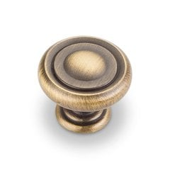 Bremen 1 1-1/4 Inch Diameter Antique Brushed Satin Brass Cabinet Knob