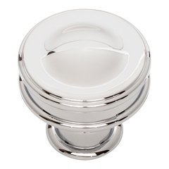 Oskar Knob 1-1/4 inch Diameter Polished Chrome