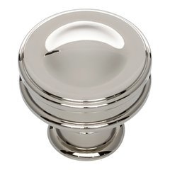 Oskar Knob 1-1/4 inch Diameter Polished Nickel