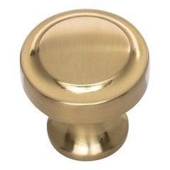 Bradbury Knob 1-1/4 inch Diameter Warm Brass