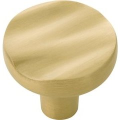 Caspian Knob 1-1/4 inch Diameter Satin Brass