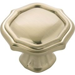 Trellis Knob 1-1/2 inch Diameter Elusive Golden Nickel