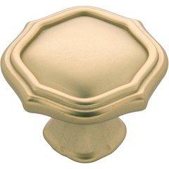 Trellis Knob 1-1/2 inch Diameter Flat Ultra Brass
