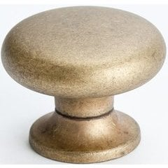 Euro Retro 1-3/16 Inch Diameter Dull Antique Brass Cabinet Knob