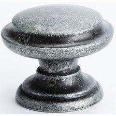 Andante 1-3/8 Inch Diameter Rustic Iron Cabinet Knob