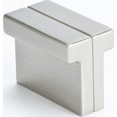 Skyline 1-3/8 Inch Length Brushed Nickel Cabinet Knob <small>(#9209-1BPN-P)</small>