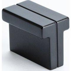 Skyline 1-3/8 Inch Length Matte Black Cabinet Knob