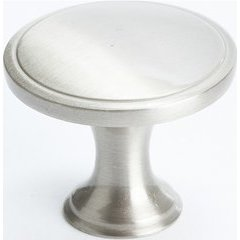 Oasis 1-1/4 Inch Diameter Brushed Nickel Cabinet Knob