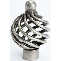 Provence 1-3/8 Inch Diameter Pewter French Iron Cabinet Knob