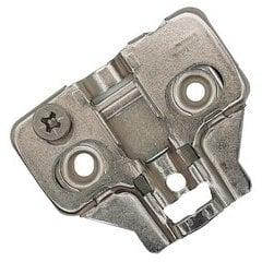 37% OFF Builders Line Long Arm Hinge Baseplate - 0mm Frameless Cabinet Clip Plate - Screw-On - Cam Adjustable