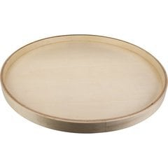 18 Inch Round Banded Lazy Susan with Swivel Preinstalled