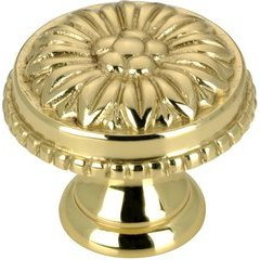 Traditional 31/32 Inch Diameter Knobs with Brass Finish <small>(#BP04325130)</small>