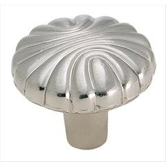 Natural Elegance 1-1/4 Inch Diameter Sterling Nickel Cabinet Knob